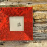 cadre 19x19 Chine rouge 35 €